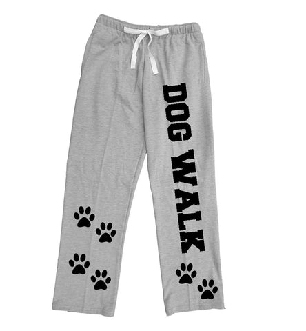 DOG WALK Paw Print Fleece Pants - Adult and Youth Sizes