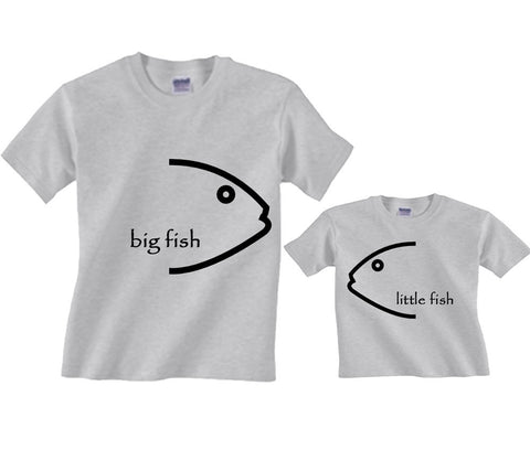 Fish Face Personalized Matching Father Son T-Shirts