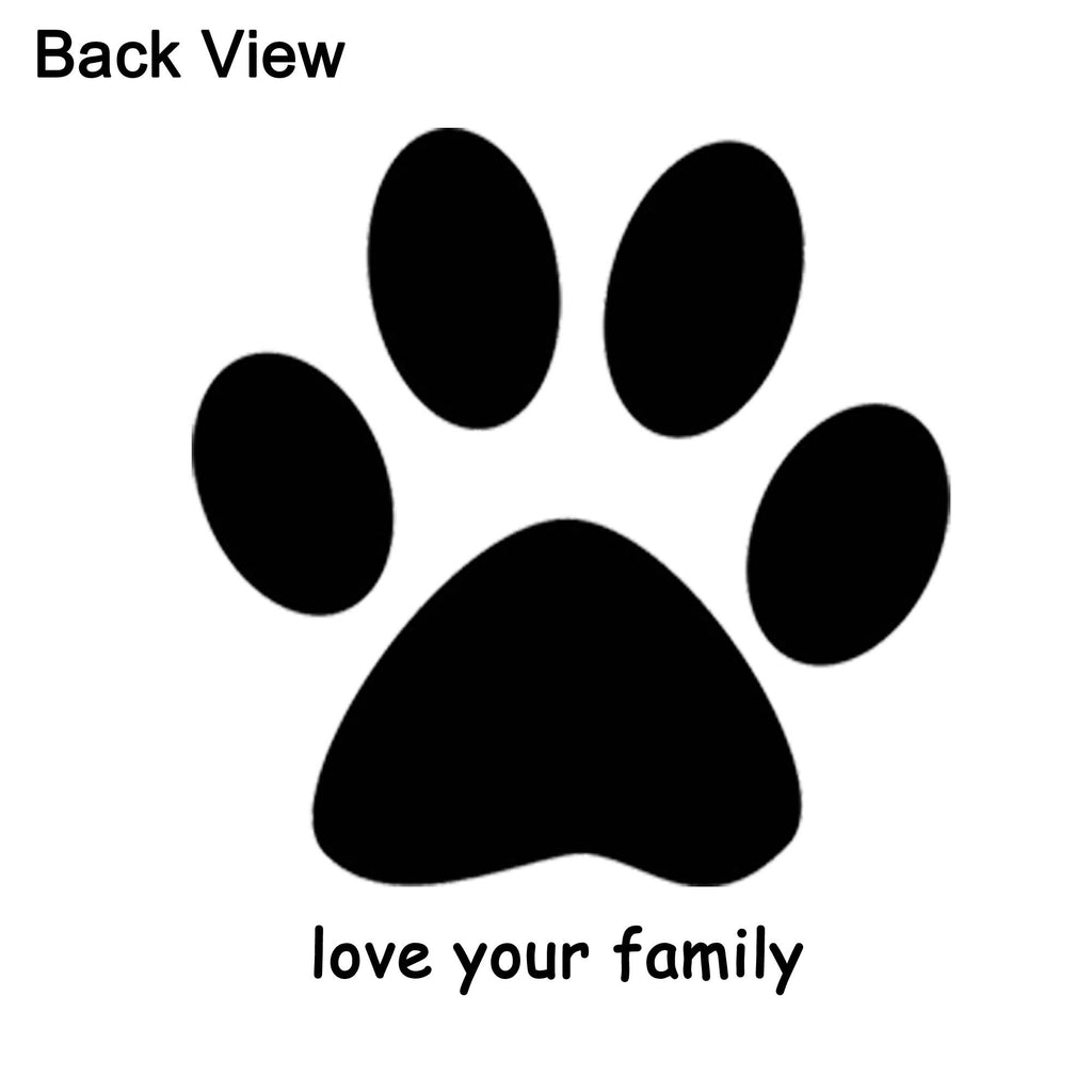 i heart dogs front and back giant paw print family matching pant