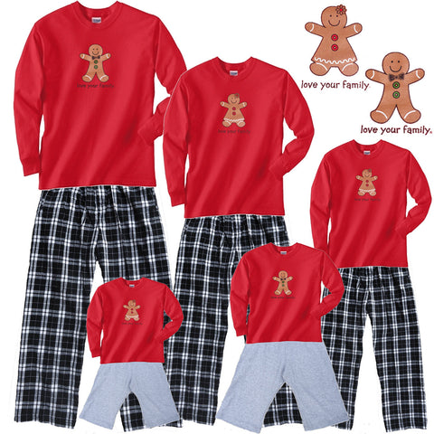 Gingerbread Boy or Girl Matching Family Sets