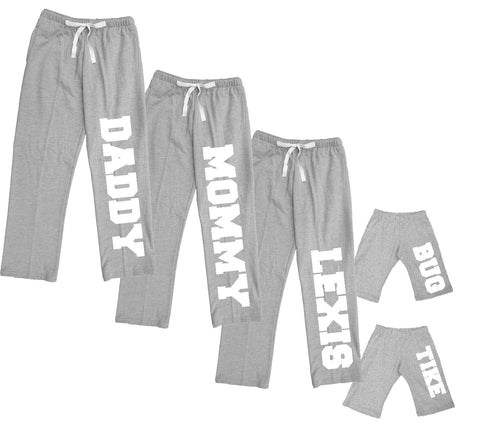 Classic Grey Plush Pants for the Whole Family