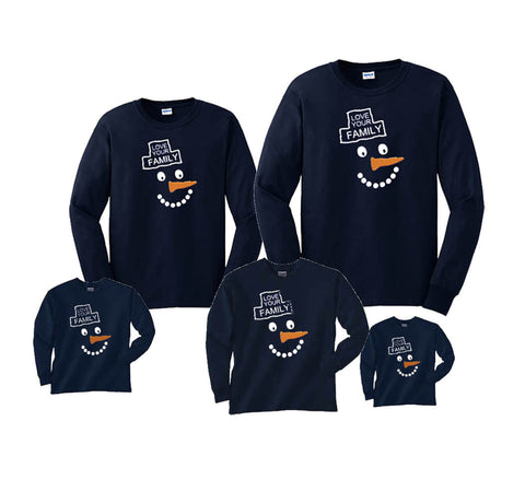 Happy Snowman Family Winter Shirts