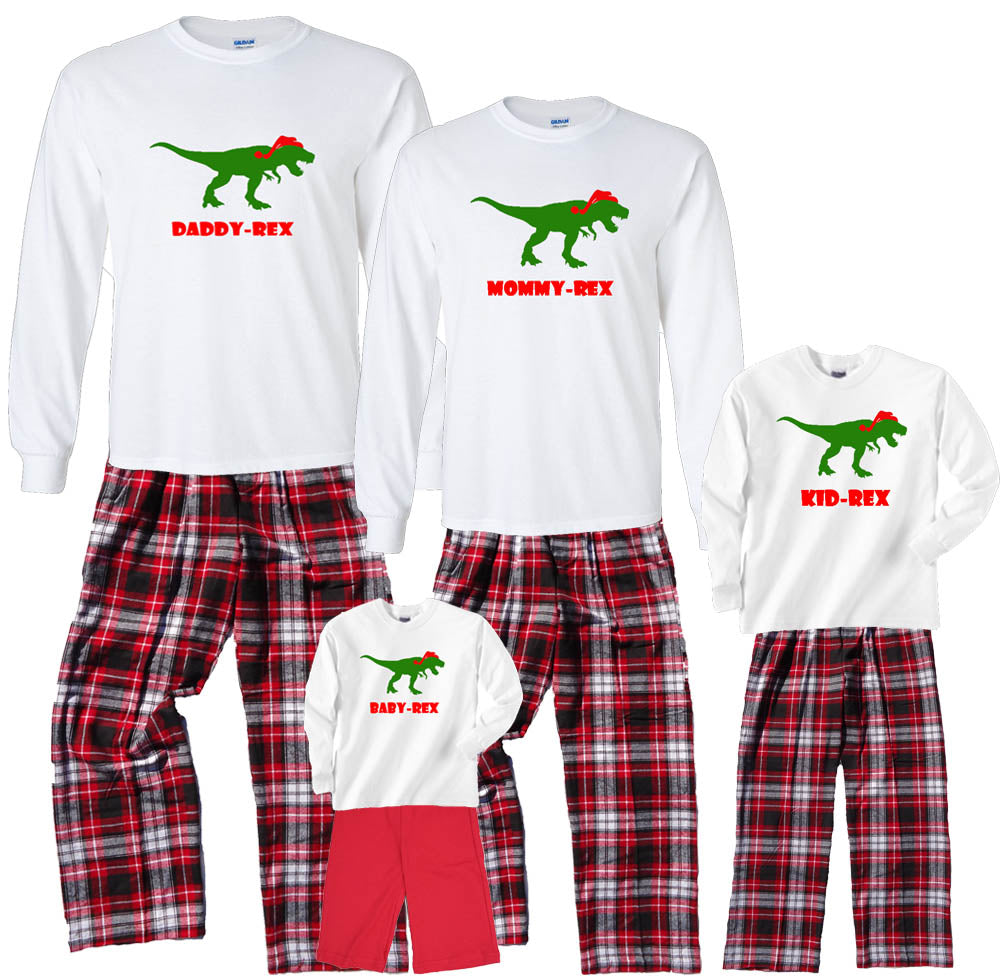 DINO FAMILY Holiday Matching Personalized Outfits