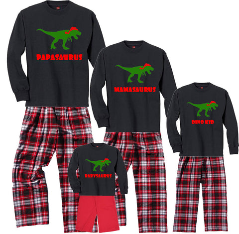 holiday dinosaur family matching personalized christmas outfits - Matching Pjs Christmas