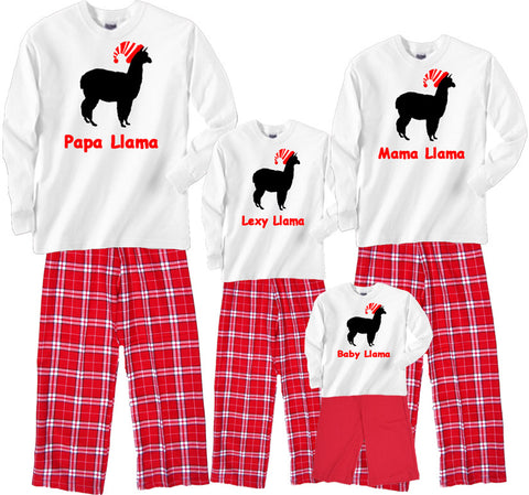 HOLIDAY LLAMA Matching Family Christmas Personalized Outfits