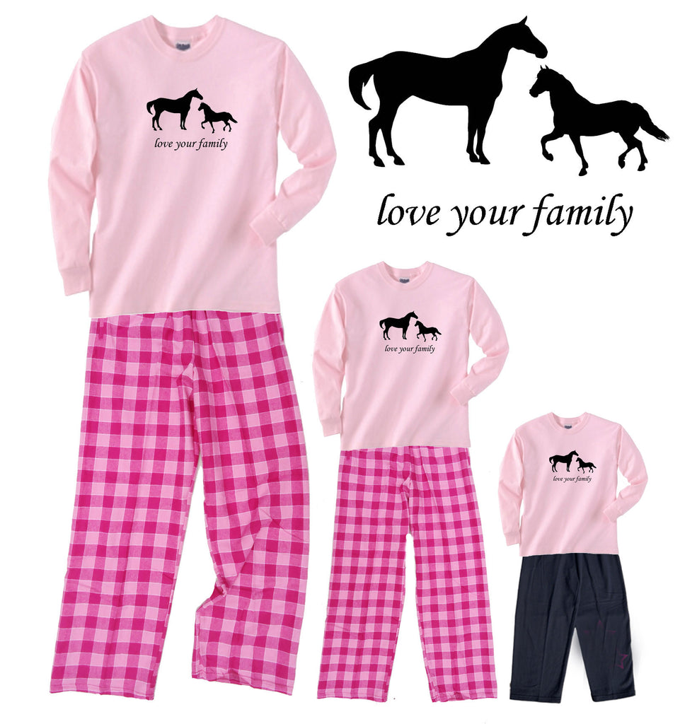 Horses Love your Family Mother Daughter Outfits