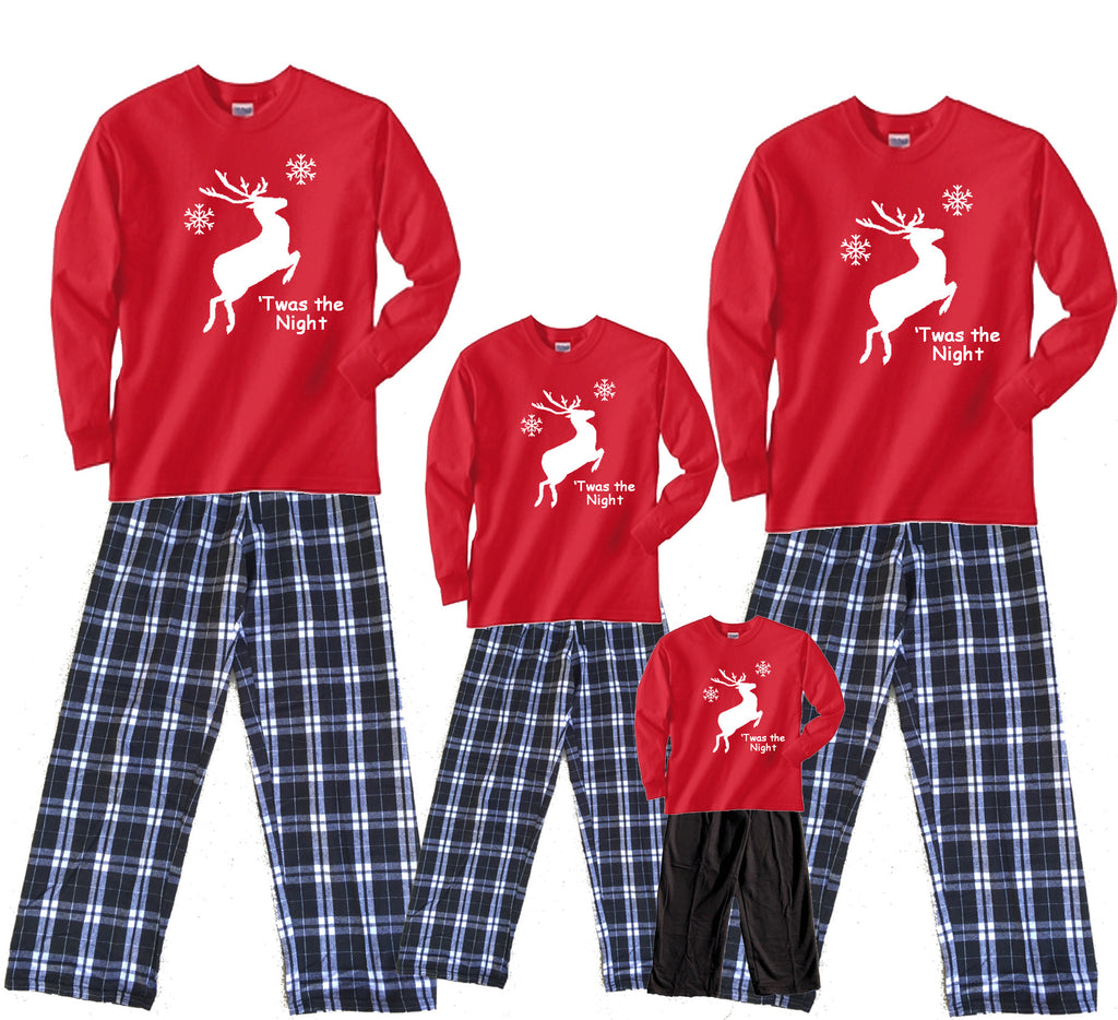 'Twas the Night Leaping Reindeer Matching Family Sets