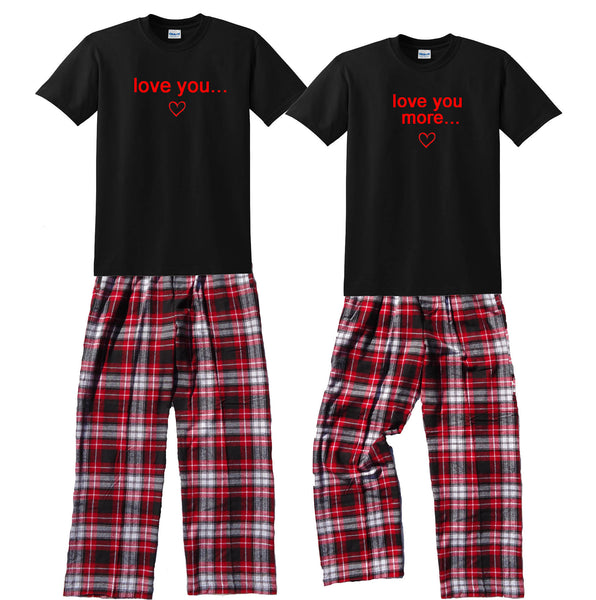 Love You & Love You More... Matching His & Hers Pajamas