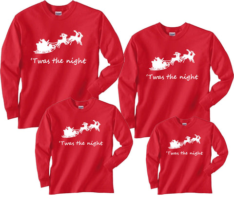 aa94c327d9 Twas the Night Santa s Sleigh Christmas Eve Shirts