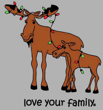 Moose Tangled in Lights Matching Family Christmas Outfits