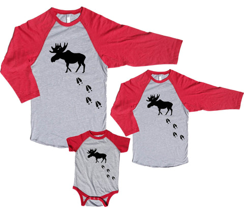 Moose Tracks Family Matching Baseball Shirts