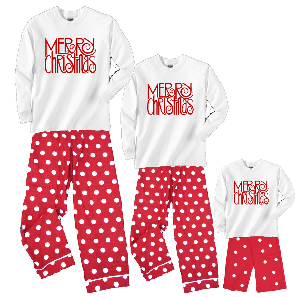 MERRY CHRISTMAS Matching Mother Daughter Baby Christmas Outfits