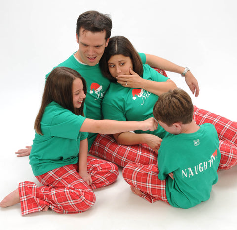 Naughty or Nice? 2 Sided Matching Family Outfits