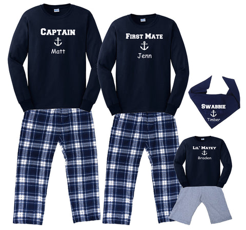 Family Matching Personalized Nautical/Boating/Cruise Outfits