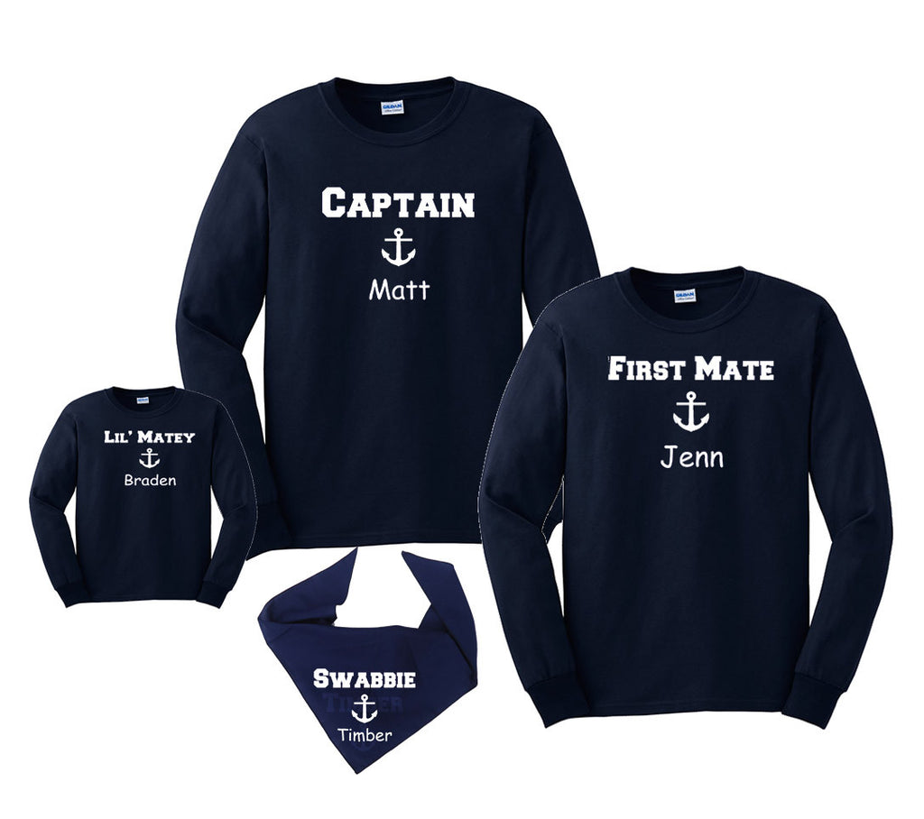Nautical Cruise Ship Boating Personalized Family Shirts