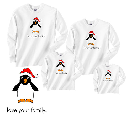 Penguin at the North Pole Matching Shirts in Long Sleeve