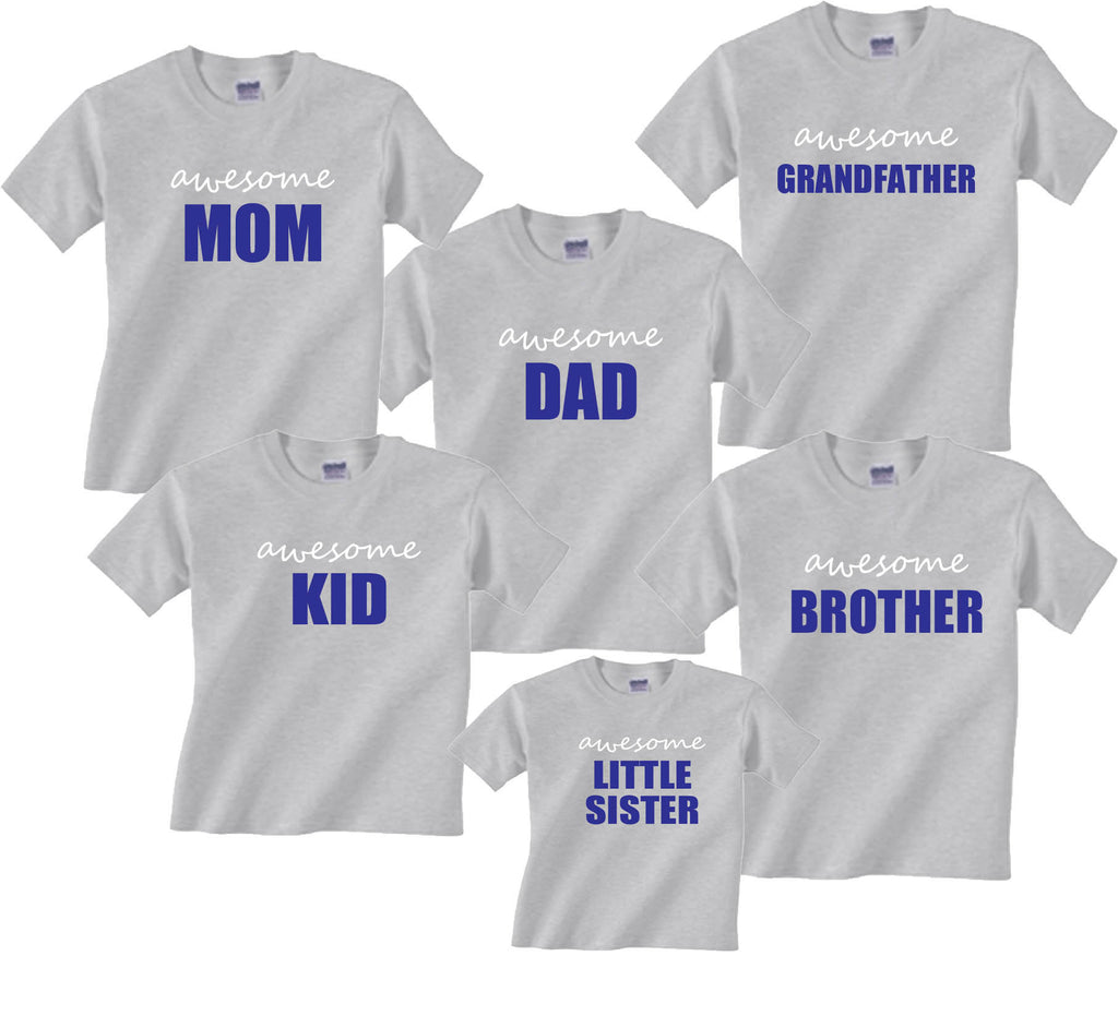 AWESOME Family Personalized Matching T-Shirts