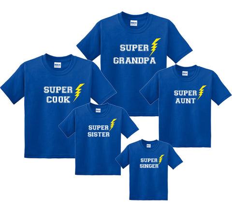 SUPER Family Personalized Matching T-Shirts