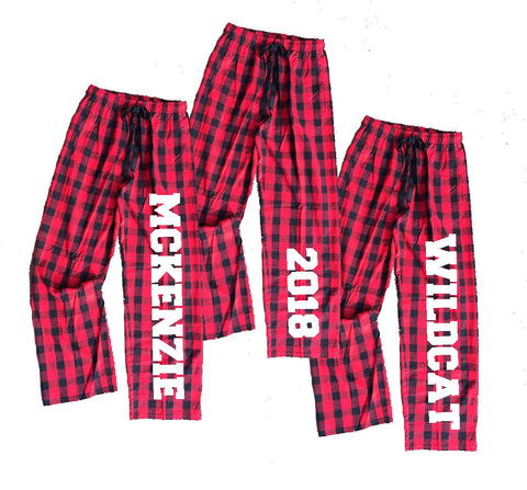 Personalized Buffalo Plaid Flannel Pants for the Whole Family