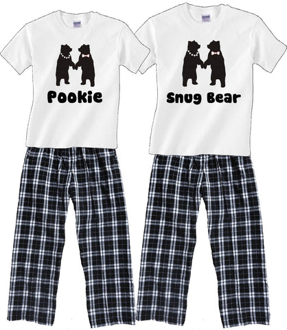 Personalized Dancing Bears Matching Couples Pajamas