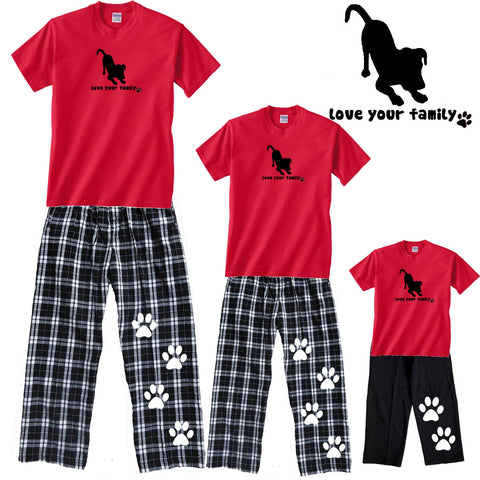 Love Your Family Dog Matching Family Pant Outfits