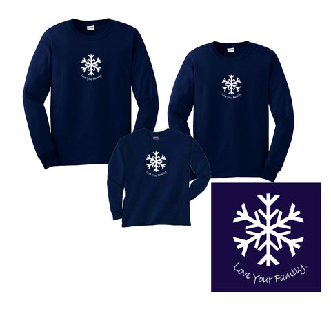 Winter Snowflake Love Your Family Shirts