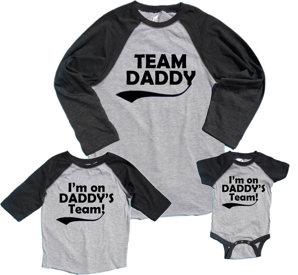 Team Daddy & I'm on Daddy's Team Matching Father & Child Shirts