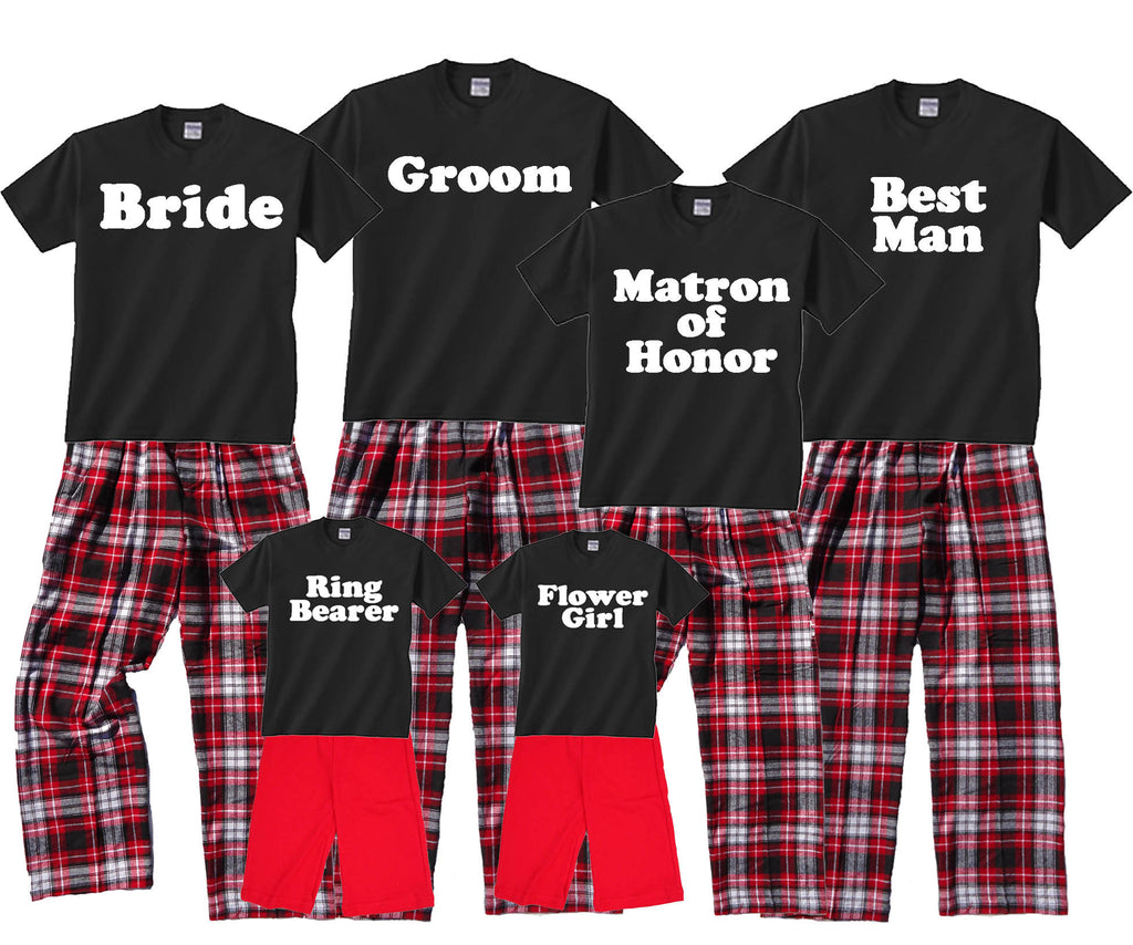Personalized Wedding Party Outfits - Bride, Groom, Bridesmaids, etc.