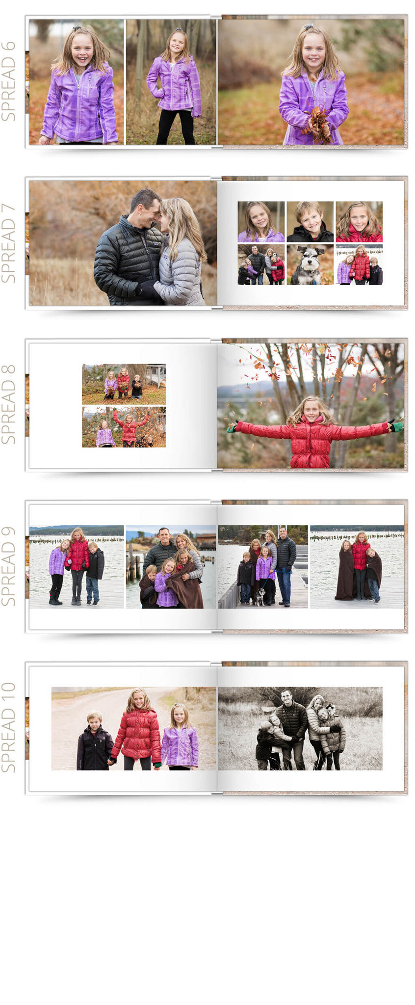 Classic Family 12x8 Album Photoshop Templates