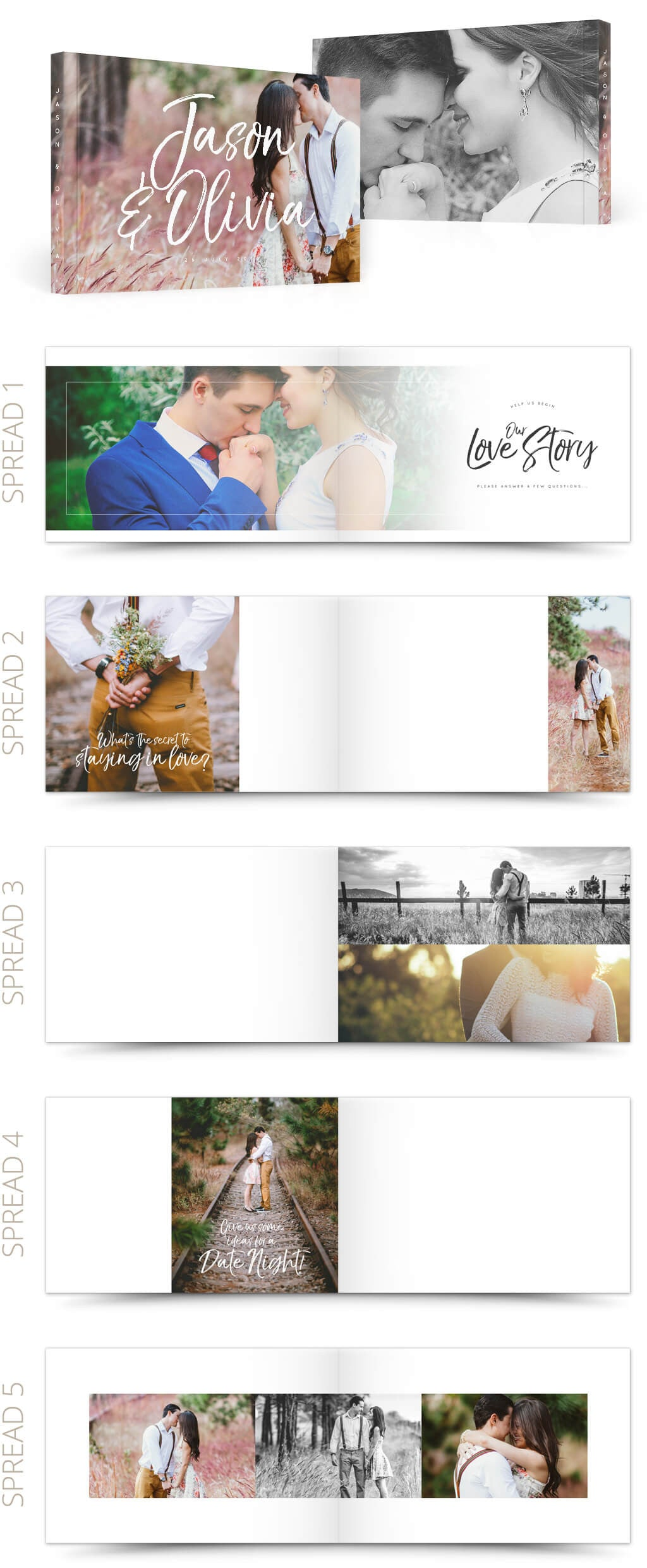 Forever Reception Book Album | Photoshop Templates | The Album Cafe