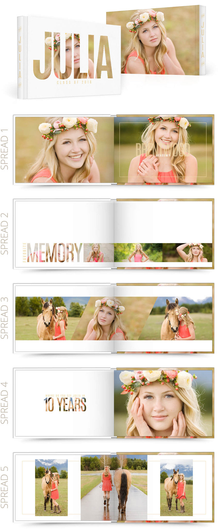 Julia 12x8 Album Photoshop Templates