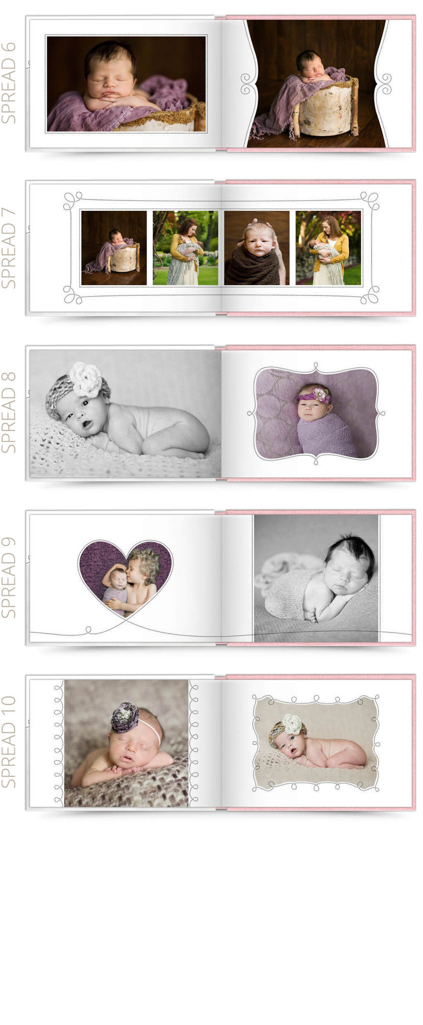 Little One 2 12x8 Album Photoshop Templates
