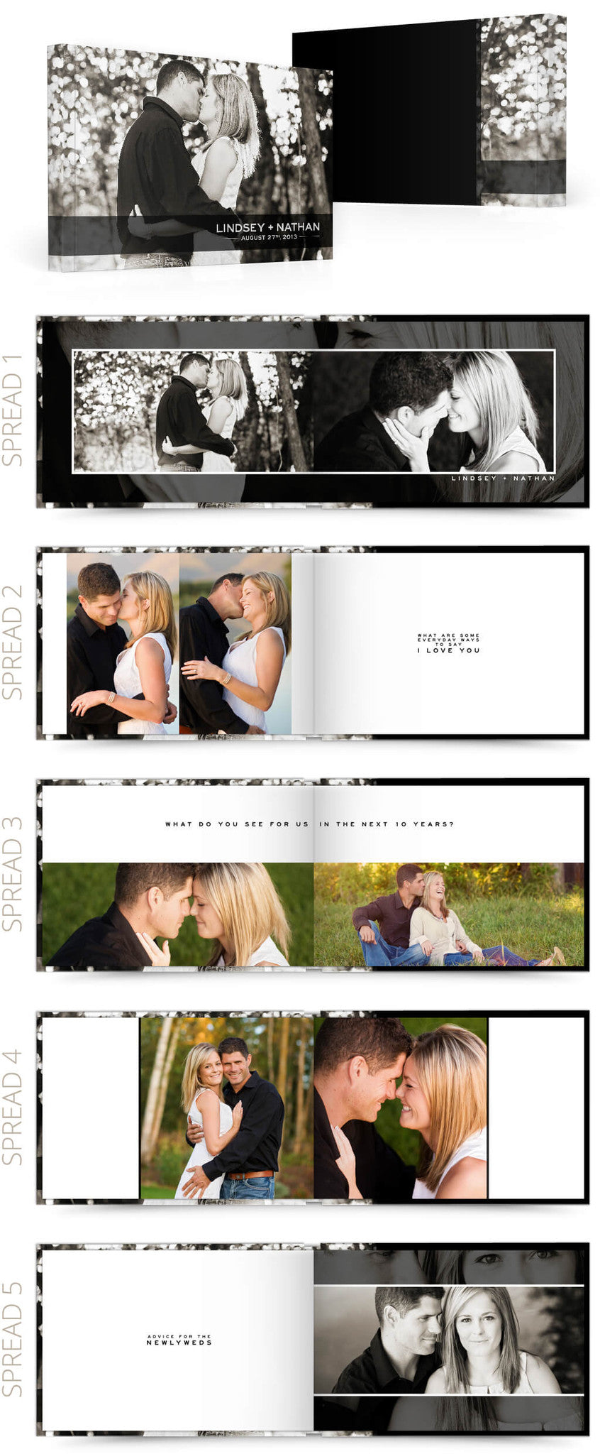 Modern Reception 12x8 Album Photoshop Templates