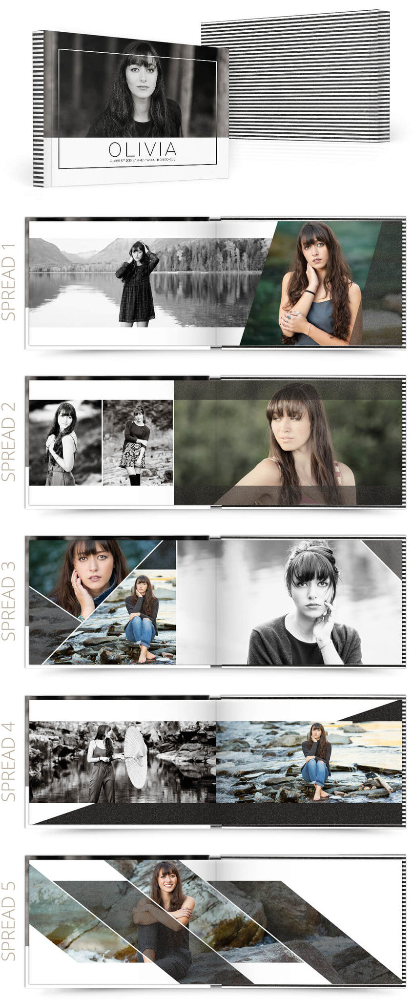 Olivia 12x8 Album Photoshop Templates