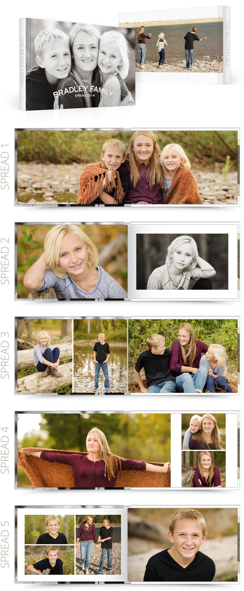 Quick Family 12x8 Album Photoshop Templates