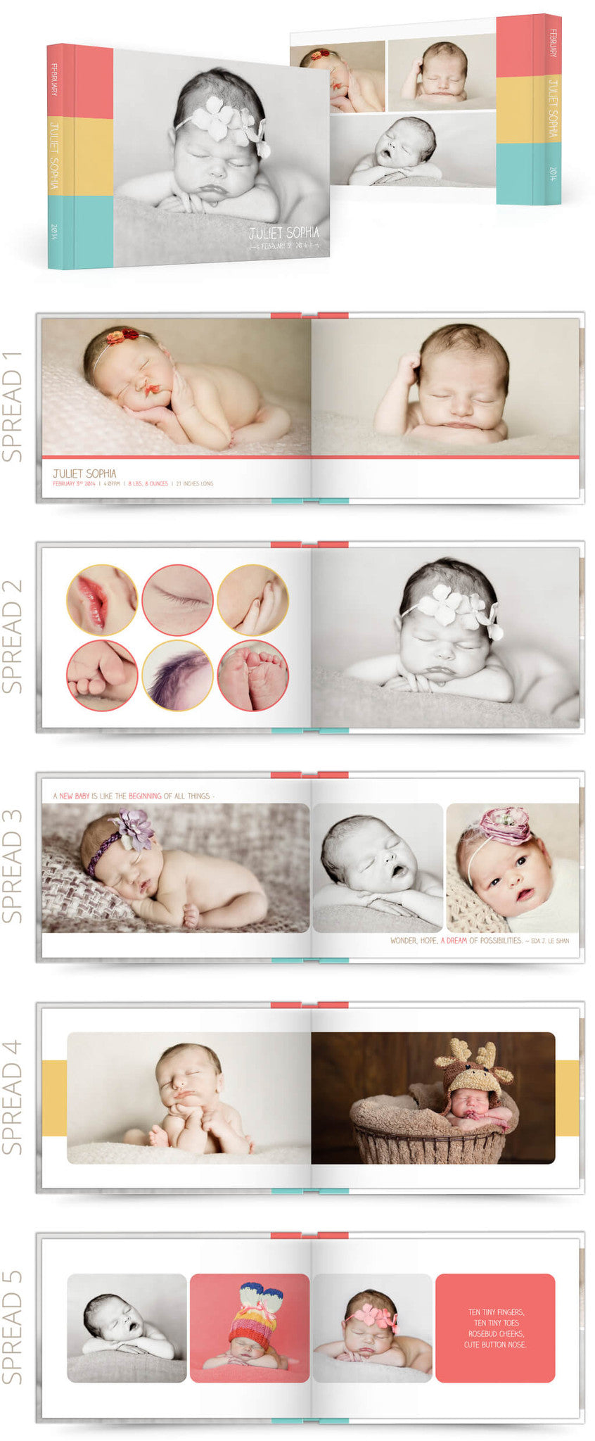 Quotable 12x8 Album Photoshop Templates