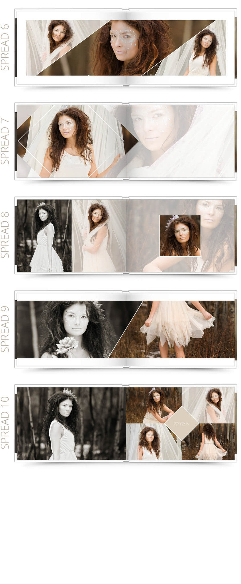 Savannah 12x8 Album Photoshop Templates