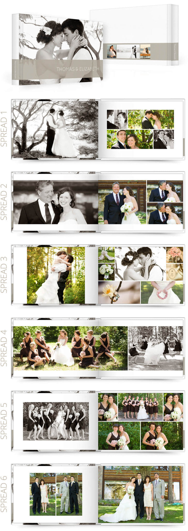 Classic 2 Wedding 12x8 Album Photoshop Templates