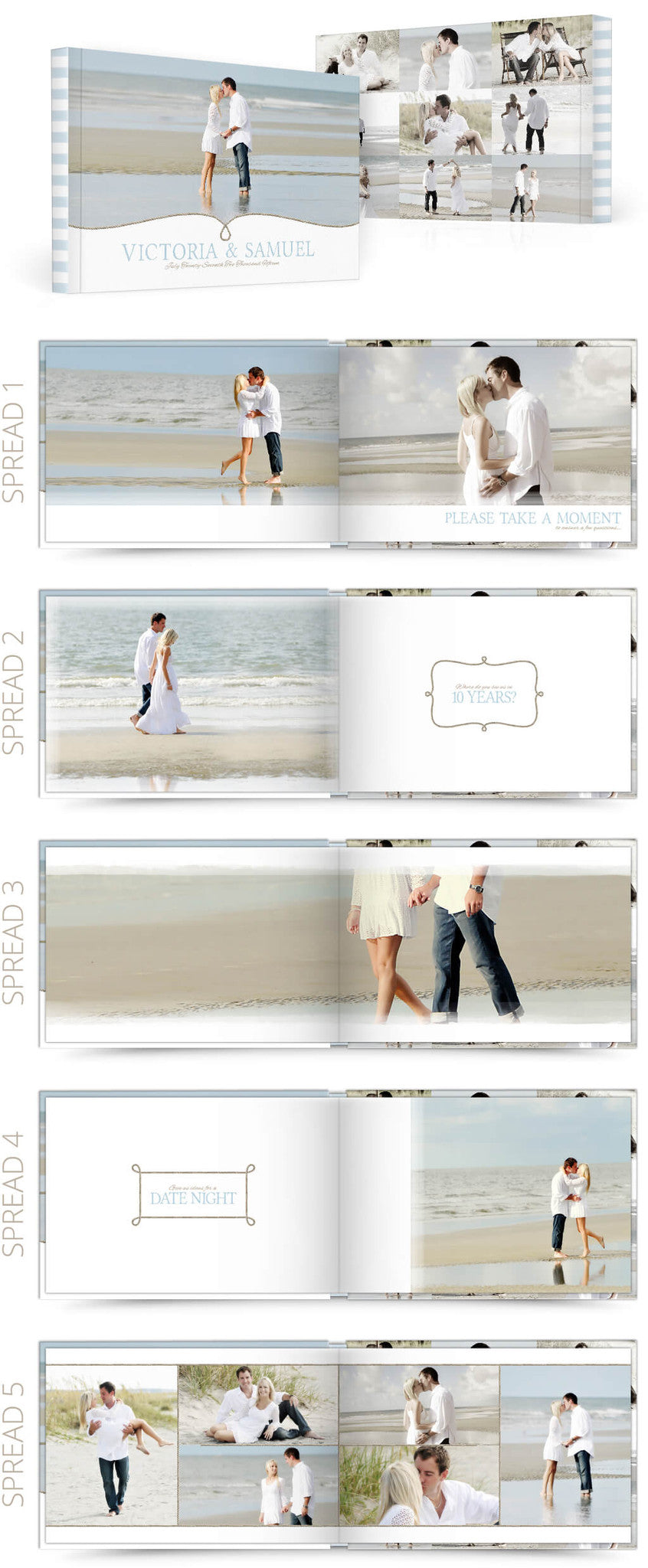 Two if by Sea Reception 12x8 Album Photoshop Templates
