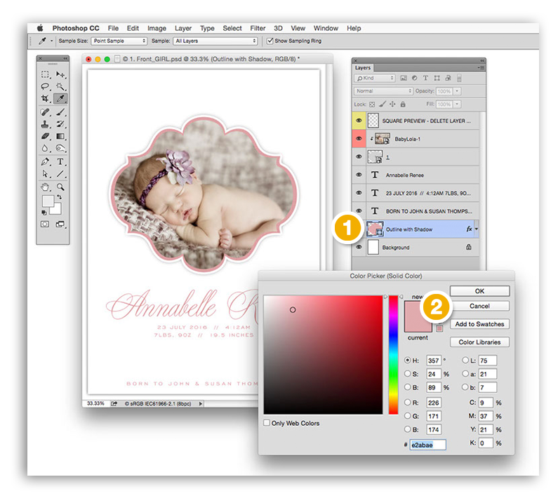 Changing Colors in Your Album Cafe Templates