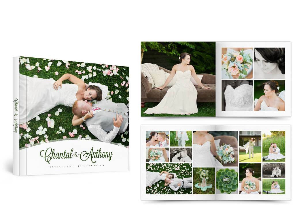 Photoshop templates for photographer just drop in your for Wedding photo album templates in photoshop