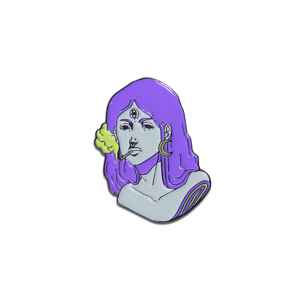 Hey Pogo - Keep It Surreal Purple Pin