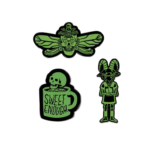 Screams Glow In The Dark Pin Pack