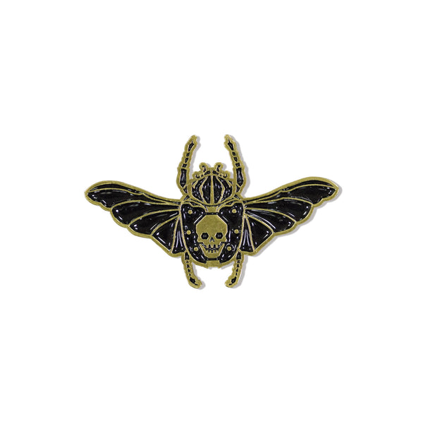 Seher One - Skull Scarab Gold Pin