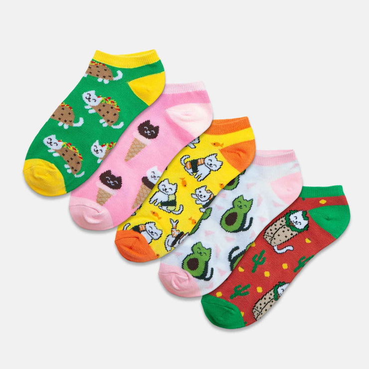 Cat Food 5 Pack Ankle Sock Set