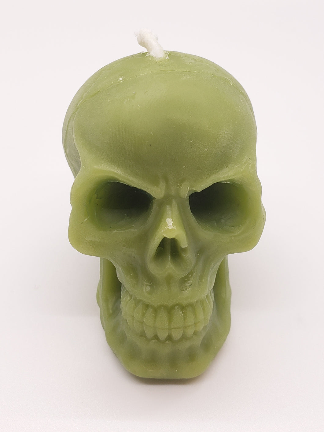 Small Beeswax Skull Candle