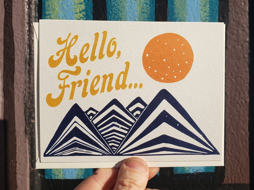 Hello, Friend Card