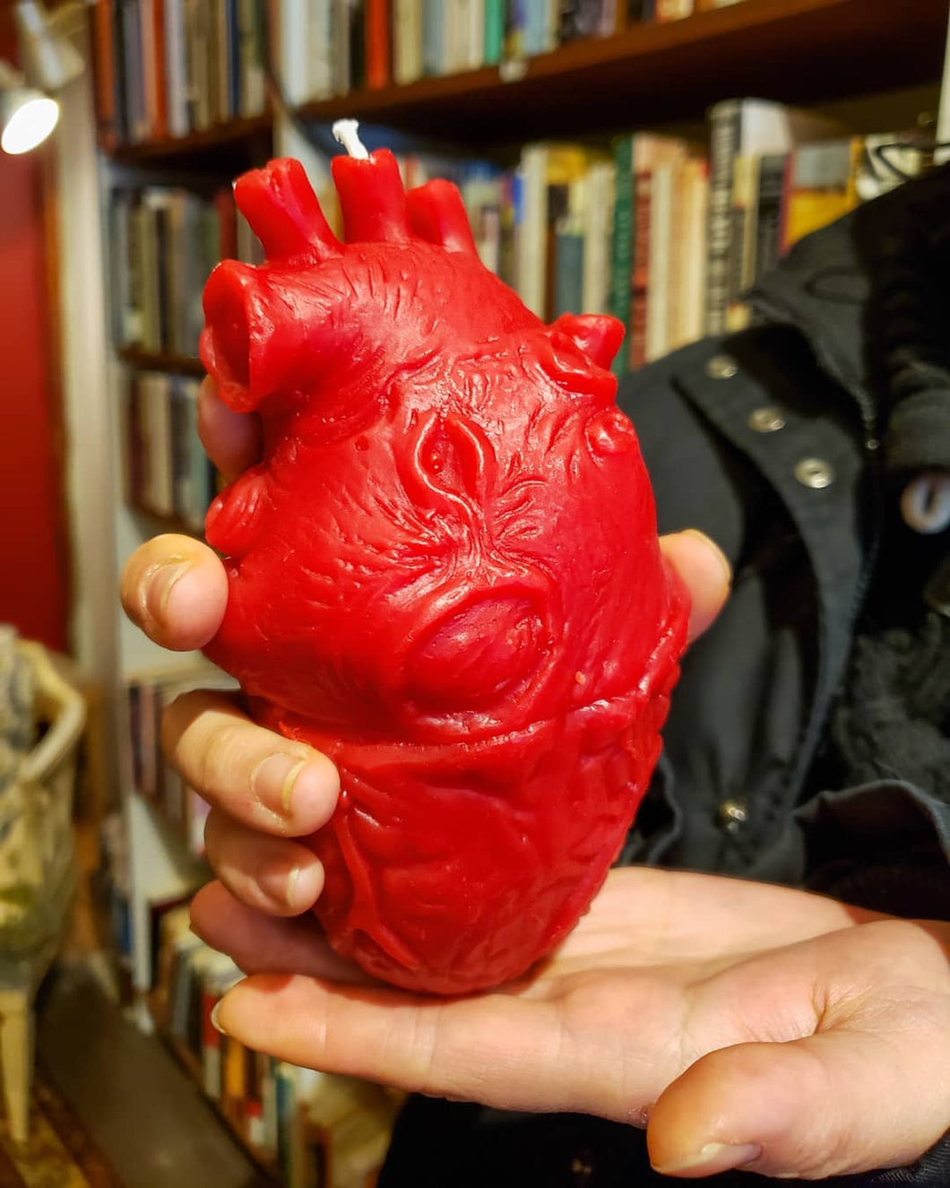 Anatomical Heart Beeswax Candle