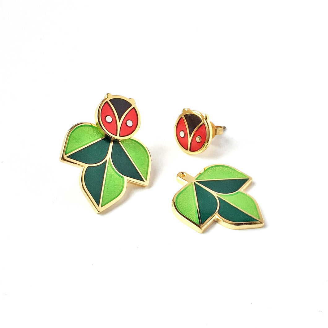 Coccinella Ladybug Jacket Earrings