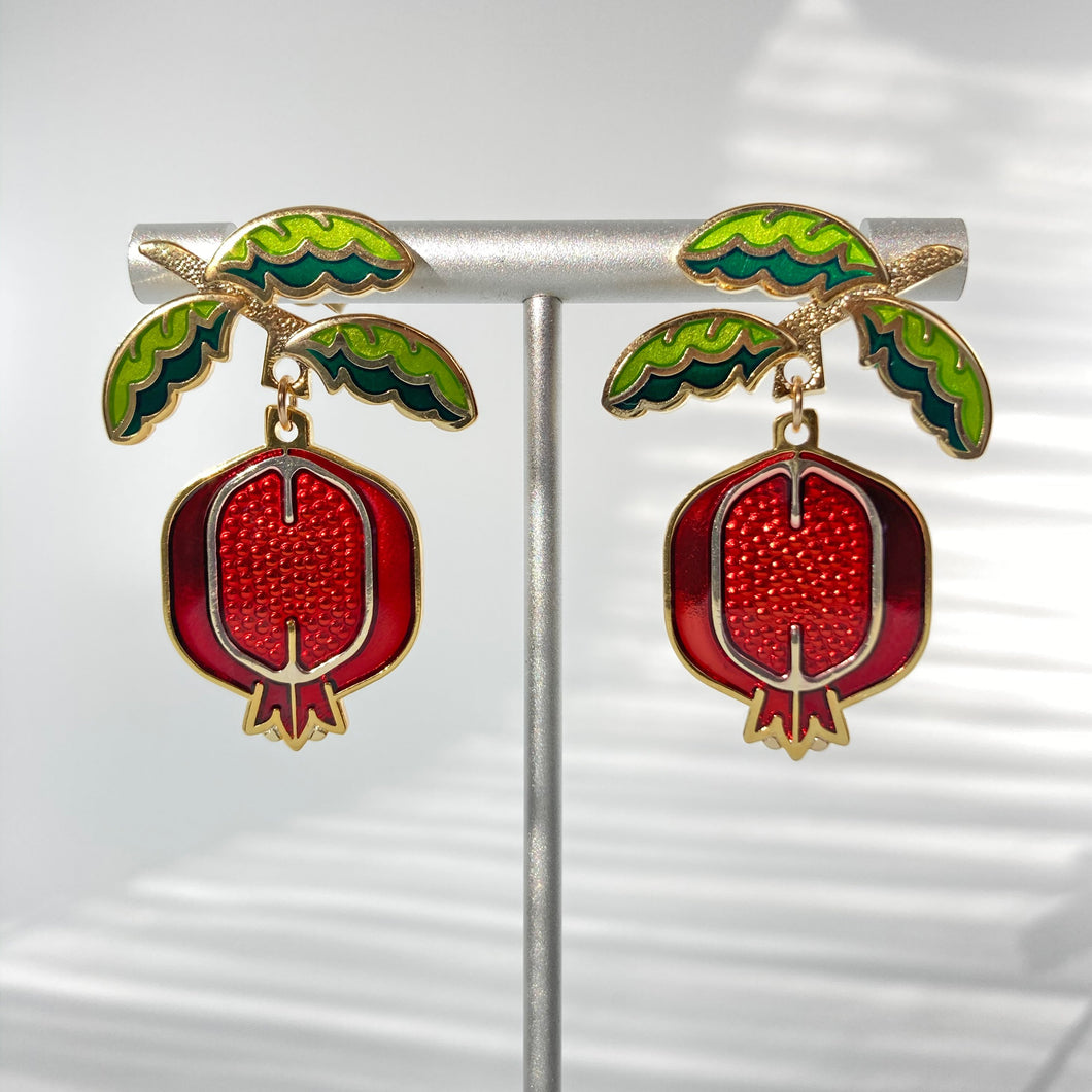 Pomegrante Earrings